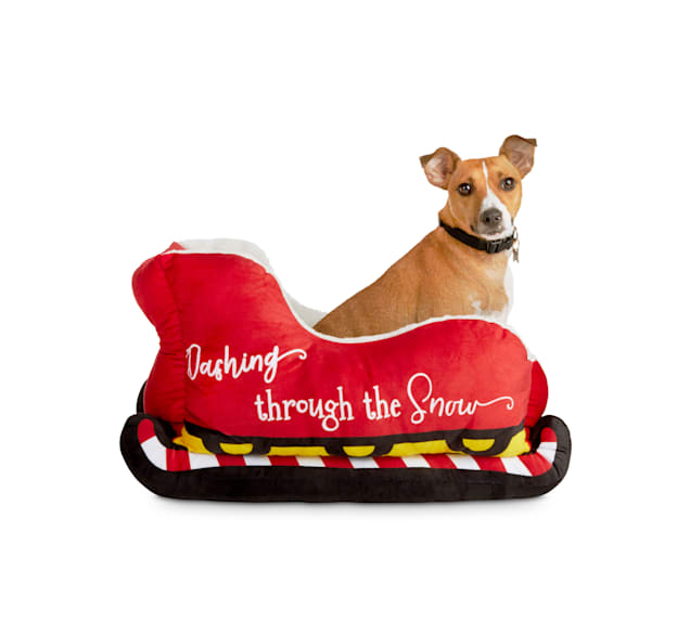 "Holiday Tails The Magical Sleigh Ride Santa Dog Bed, 20"" L X 17"" W X 12"" H - Carousel image #2"