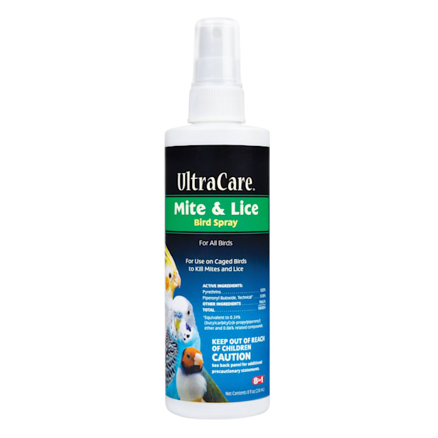 8 in 1 Ultra Care Mite & Lice Bird Spray, 8 oz. - Carousel image #1