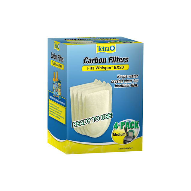 Tetra Medium Replacement Carbon Filters for EX20 Filtration System, Pack of 4 - Carousel image #1