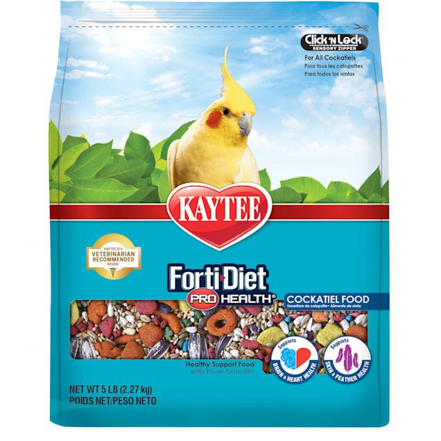 Kaytee Forti-Diet Pro Health Healthy Support Diet Cockatiel Food, 5 lbs. - Carousel image #1