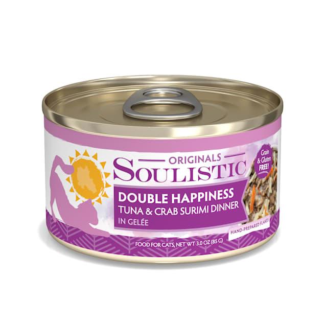 Soulistic Originals Double Happiness Tuna & Crab Surimi Dinner in Gelee Wet Cat Food, 3 oz., Case of 12 - Carousel image #1