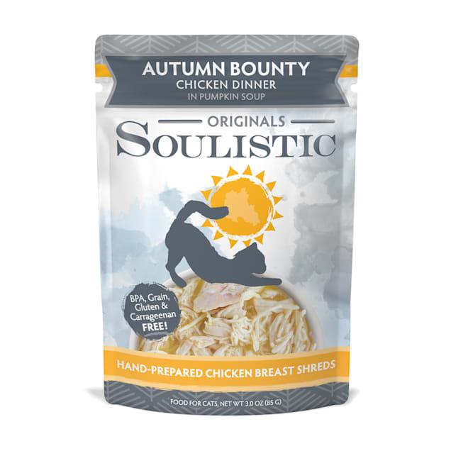 Soulistic Originals Autumn Bounty Chicken Dinner in Pumpkin Soup Wet Cat Food, 3 oz., Case of 8 - Carousel image #1