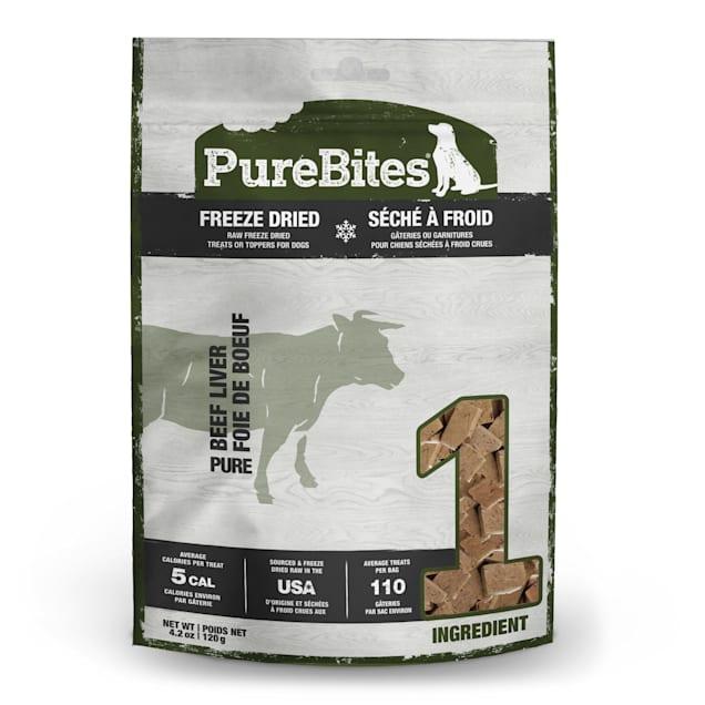 PureBites Natural Freeze Dried Beef Liver Dog Treats, 4.2 oz. - Carousel image #1