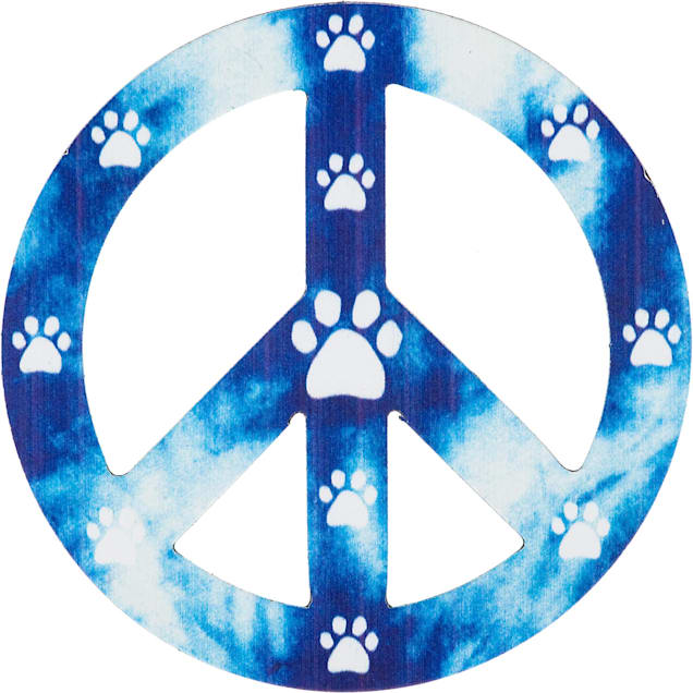 Imagine This Peace Paws Car Magnet - Carousel image #1