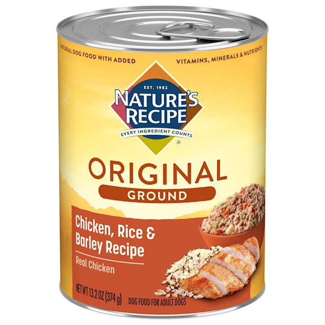 Nature's Recipe Easy to Digest Chicken, Rice & Barley Formula Canned Dog Food, 13.2 oz., Case of 12 - Carousel image #1
