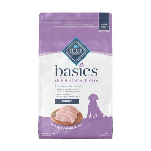 Blue Buffalo Blue Basics Puppy Turkey & Potato Recipe Dry Dog Food, 24 lbs. - Carousel image #1