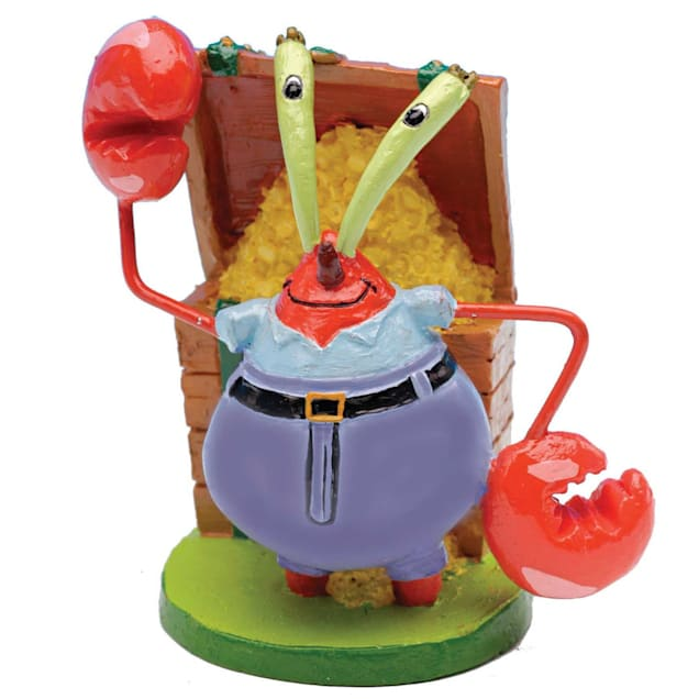 "Penn Plax SpongeBob Mr. Krabs Aquarium Ornament, 1"" L X 1"" W X 2"" H - Carousel image #1"