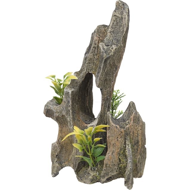 RockGarden Resin Driftwood Pinnacle with Plants - Carousel image #1