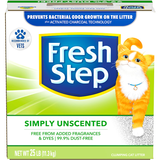 Fresh Step Simply Unscented Clumping Cat Litter, 25 lbs. - Carousel image #1