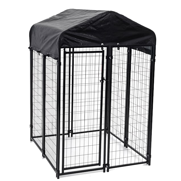 Lucky Dog Uptown Welded Wire Kennel w/Cover and Frame, 4' L X 4' W X 6' H - Carousel image #1