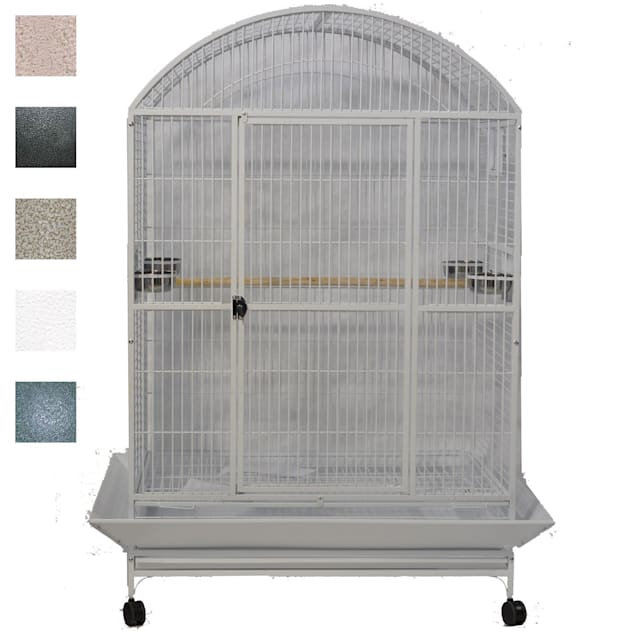 """A&E Cage Company Black Macaw Mansion Enormous X-Large Dometop Bird Cage, 48"""" L X 36"""" W X 76"""" H - Carousel image #1"""