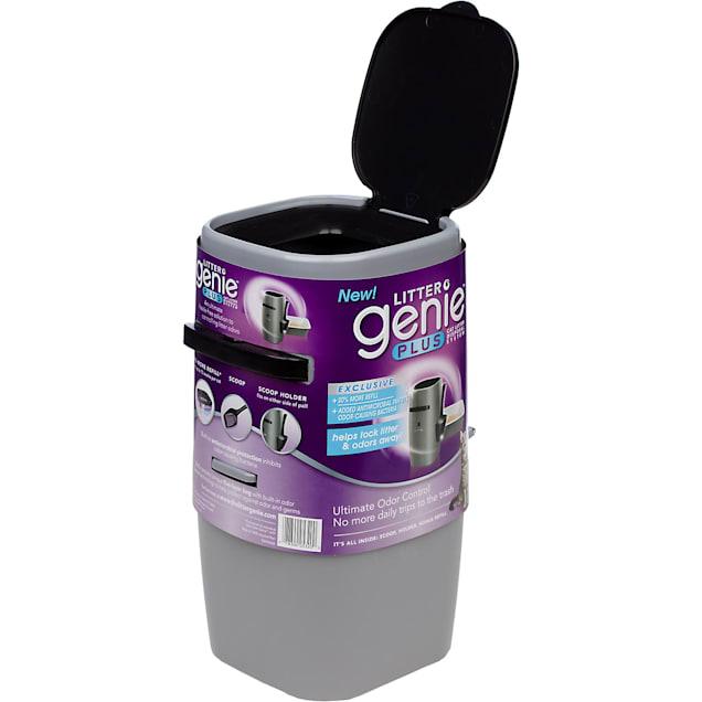 "Litter Genie Plus Cat Litter Disposal System in Silver, 8"" L X 8"" W X 17"" H - Carousel image #1"