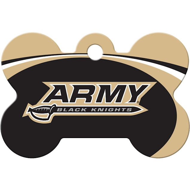 """Quick-Tag Army NCAA Bone Personalized Engraved Pet ID Tag, 1 1/2"""" W X 1"""" H - Carousel image #1"""