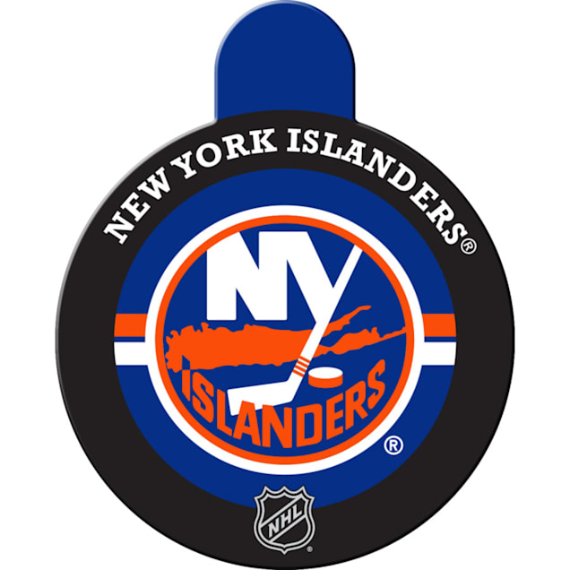 "Quick-Tag New York Islanders NHL Personalized Engraved Pet ID Tag, 1 1/4"" W X 1 1/2"" H - Carousel image #1"