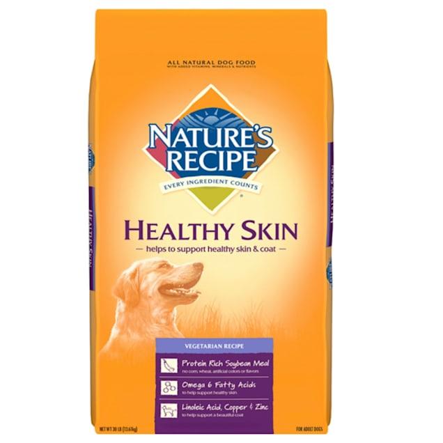 Nature's Recipe Healthy Skin Vegetarian Recipe Adult Dry Dog Food, 30 lbs. - Carousel image #1