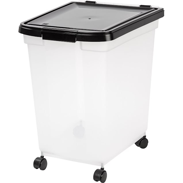"Iris Black and Clear Airtight Food Storage Container, 15.7"" L X 18.7"" W X 19.5"" H, 50# - Carousel image #1"