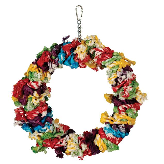 "Caitec Paradise Large Cotton Snuggle Ring Bird Toy, 11"" Diameter - Carousel image #1"