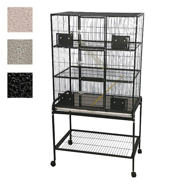 "A&E Cage Company 3 Level Small Animal Cage with Removable Base in Platinum, 33"" L X 22"" W X 63"" H - Carousel image #1"