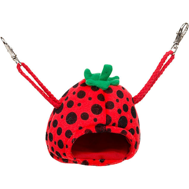 """Multipet Small Strawberry House Small Animal Hideaway, 4"""" L X 4"""" W X 4"""" H - Carousel image #1"""