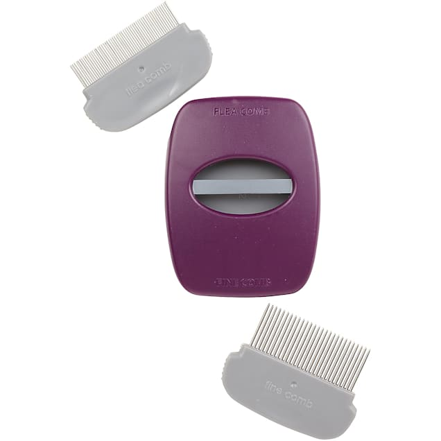 """Petmate Furbuster 2-in-1 Fine & Flea Pet Combs with Travel Case, 3.5"""" L X 2.5"""" W X .5"""" H - Carousel image #1"""