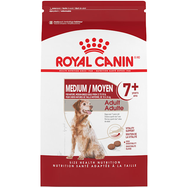 Royal Canin Size Health Nutrition Medium Adult 7+ Dry Dog Food, 30 lbs. - Carousel image #1