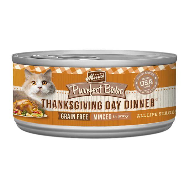Merrick Purrfect Bistro Grain Free Thanksgiving Day Dinner Wet Cat Food, 3 oz., Case of 24 - Carousel image #1