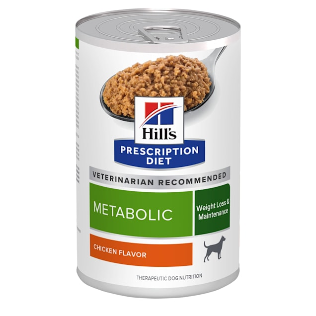 Hill's Prescription Diet Metabolic Weight Management Chicken Flavor Canned Dog Food, 13 oz., Case of 12 - Carousel image #1