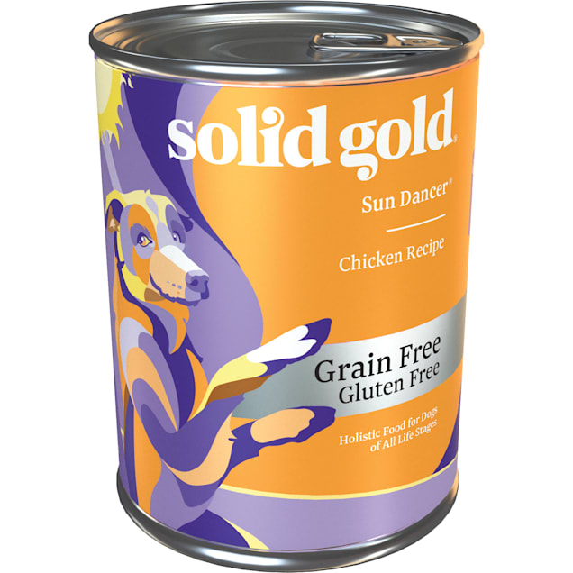 Solid Gold Sun Dancer 95% Chicken Grain Free Canned Dog Food, 13.2 oz., Case of 6 - Carousel image #1
