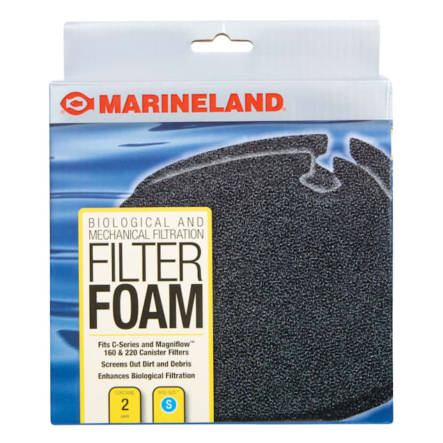 Marineland Filter Foam Supports Biological And Mechanical Aquarium Filtration, Count of 2 - Carousel image #1