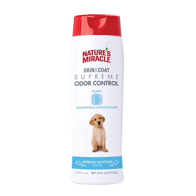 Nature's Miracle Supreme Odor Control Natural Puppy Shampoo & Conditioner, 16 fl. oz. - Carousel image #1