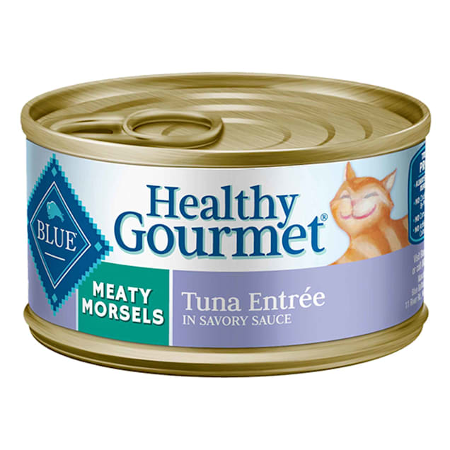 Blue Buffalo Blue Healthy Gourmet Meaty Morsels Tuna Entree Wet Cat Food, 3 oz., Case of 24 - Carousel image #1