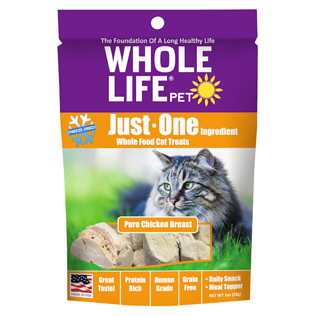 Whole Life Pet Single Ingredient USA Freeze Dried Chicken Treats for Cats, 1 oz. - Carousel image #1