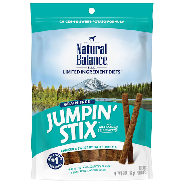 Natural Balance L.I.T. Limited Ingredient Treats Jumpin Stix Chicken & Sweet Potato Dog Treats, 5 oz. - Carousel image #1