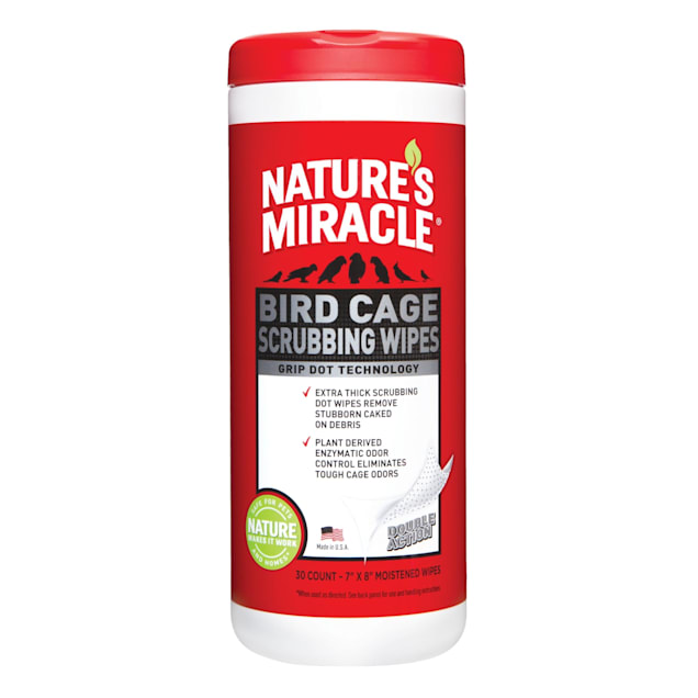 Nature's Miracle Bird Cage Scrubbing Wipes, 30 Count - Carousel image #1