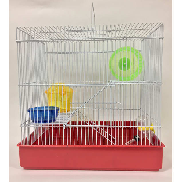 """YML 3 Level Red Hamster Cage, 15"""" L X 11"""" W X 18"""" H - Carousel image #1"""