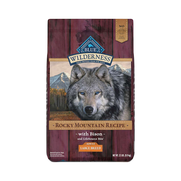 Blue Buffalo Blue Wilderness Rocky Mountain Recipe Large Breed Adult Bison Dry Dog Food, 22 lbs. - Carousel image #1