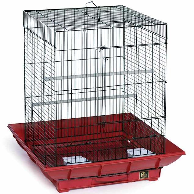 """Prevue Pet Products Clean Life Series Red & Black Bird Cage, 18"""" L X 18"""" W X 24"""" H - Carousel image #1"""