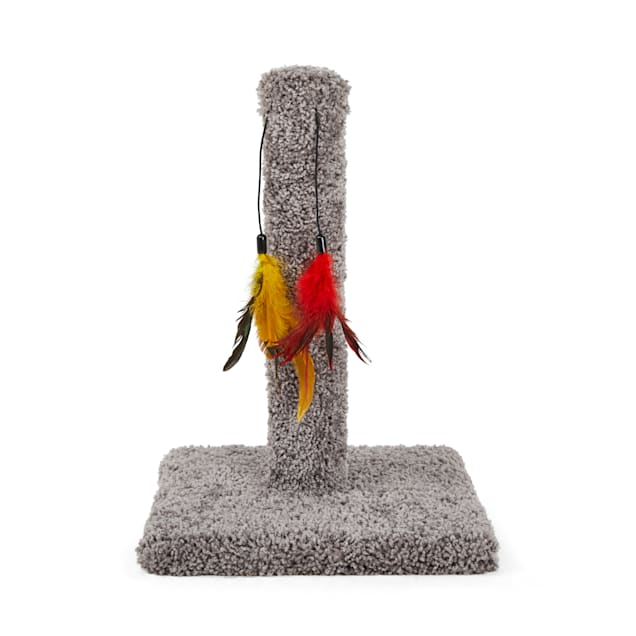 You & Me Cat Scratch Post with Feather Toys - Carousel image #1