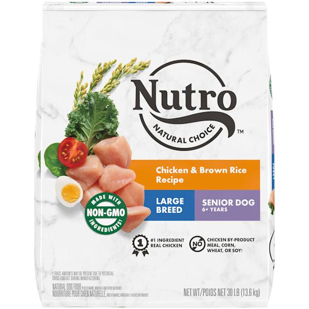 Nutro Wholesome Essentials Farm-Raised Chicken, Brown Rice & Sweet Potato Recipe Dry Large Breed Senior Dog Food, 30 lbs. Bag - Carousel image #1