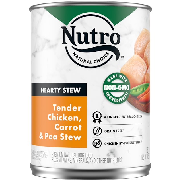 Nutro Cuts in Gravy Tender Chicken, Carrot & Pea Hearty Stew Adult Canned Wet Dog Food, 12.5 oz., Case of 12 - Carousel image #1