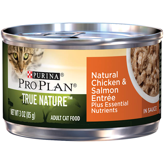 Purina Pro Plan Natural Chicken & Salmon Entree in Sauce Wet Cat Food, 3 oz., Case of 24 - Carousel image #1