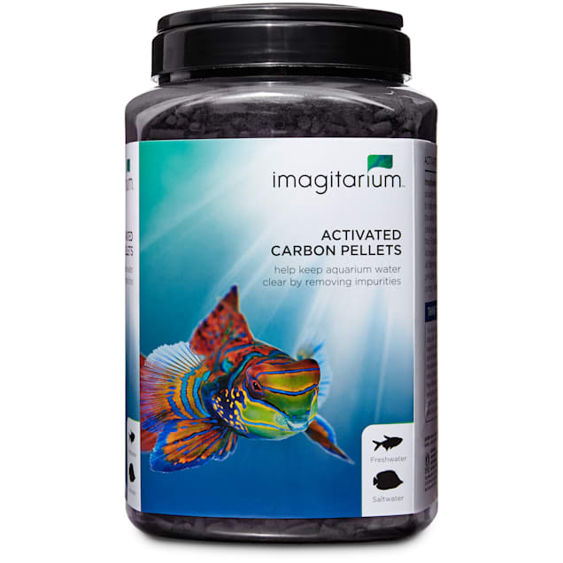 Imagitarium Activated Carbon for Fresh or Salt Water Aquariums, 45 oz. - Carousel image #1