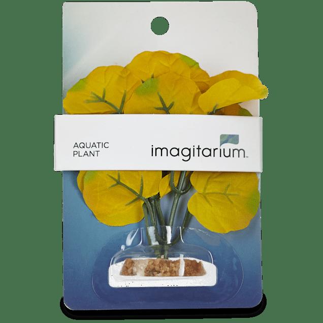 Imagitarium Small Yellow Summer Silk Plants Aquatic Decor - Carousel image #1