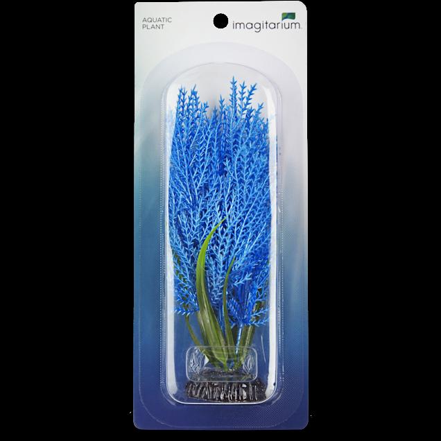 Imagitarium Small Blue Hair grass Plastic Aquarium Decor - Carousel image #1