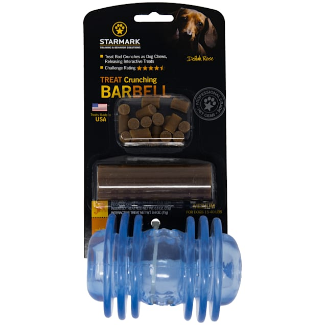 Starmark Crunching Barbell Dog Treat Dispenser - Carousel image #1