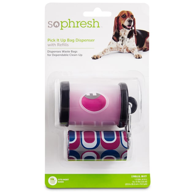 So Phresh Pick It Up Clear Dog Bag Dispenser with Refill, 30 count - Carousel image #1