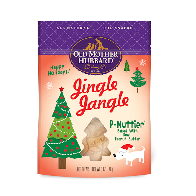 Old Mother Hubbard Holiday Natural Jingle Jangle P-Nuttier Dog Treats, 6 oz. - Carousel image #1