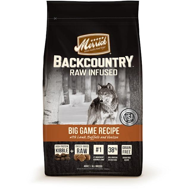 Merrick Backcountry Grain Free Raw Infused Big Game Dry Dog Food, 22 lbs. - Carousel image #1