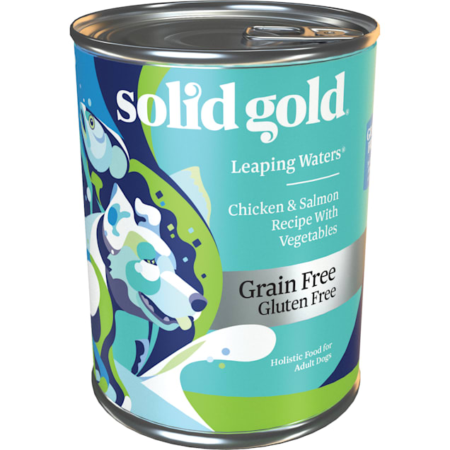Solid Gold Leaping Waters Salmon Grain Free Canned Dog Food, 13.2 oz., Case of 6 - Carousel image #1