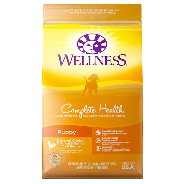 Wellness Complete Health Natural Puppy Recipe Dry Dog Food, 5 lbs. - Carousel image #1